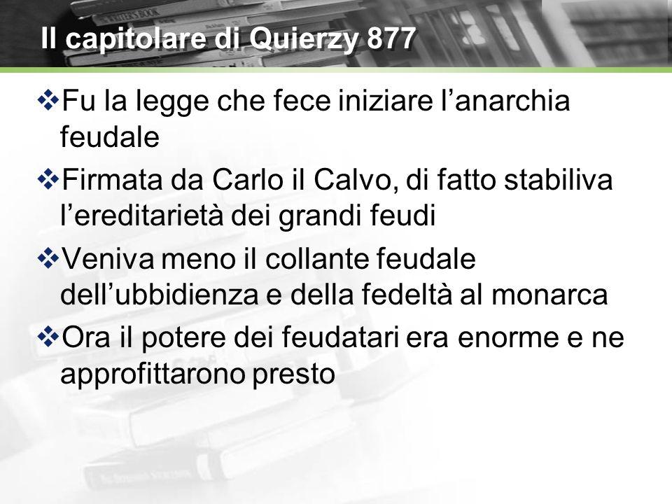 Il capitolare di Quierzy 877