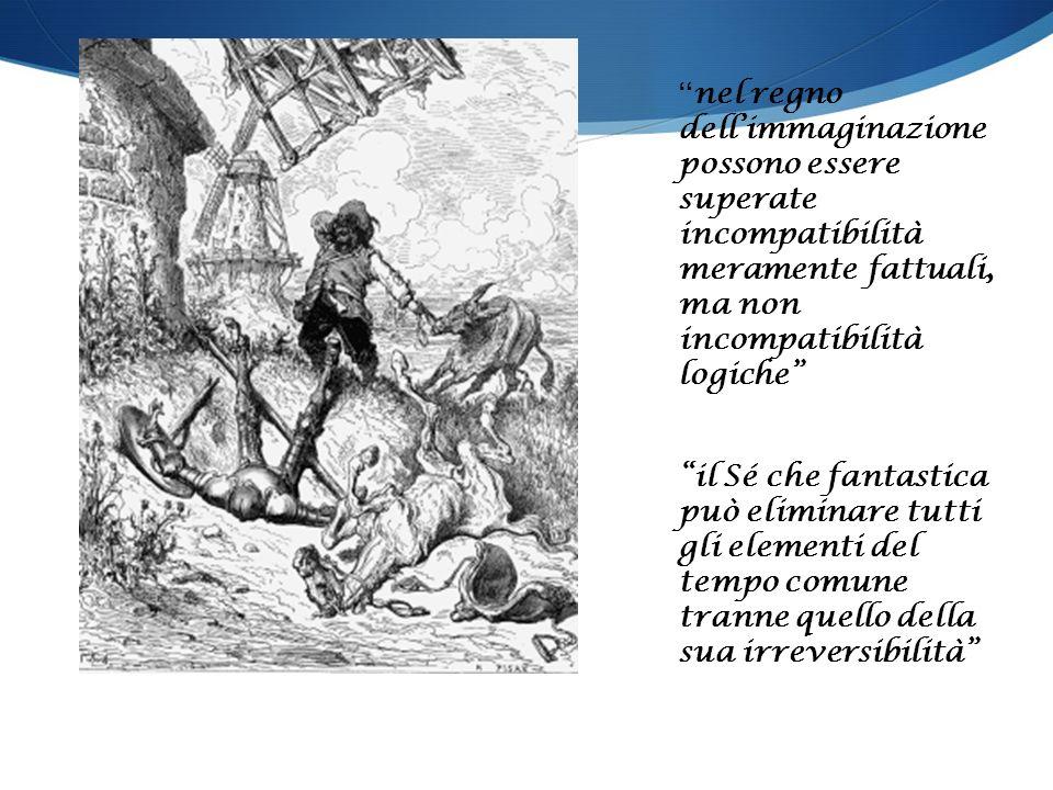 nel regno dell'immaginazione possono essere superate incompatibilità meramente fattuali, ma non incompatibilità logiche