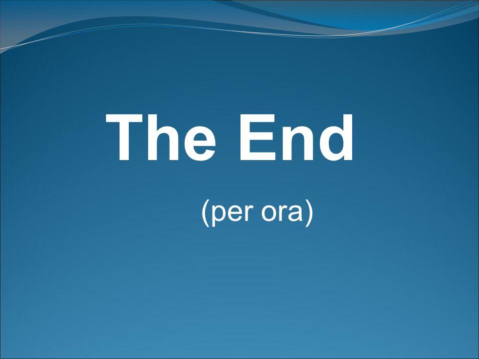 The End (per ora)