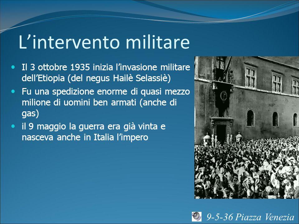 L'intervento militare