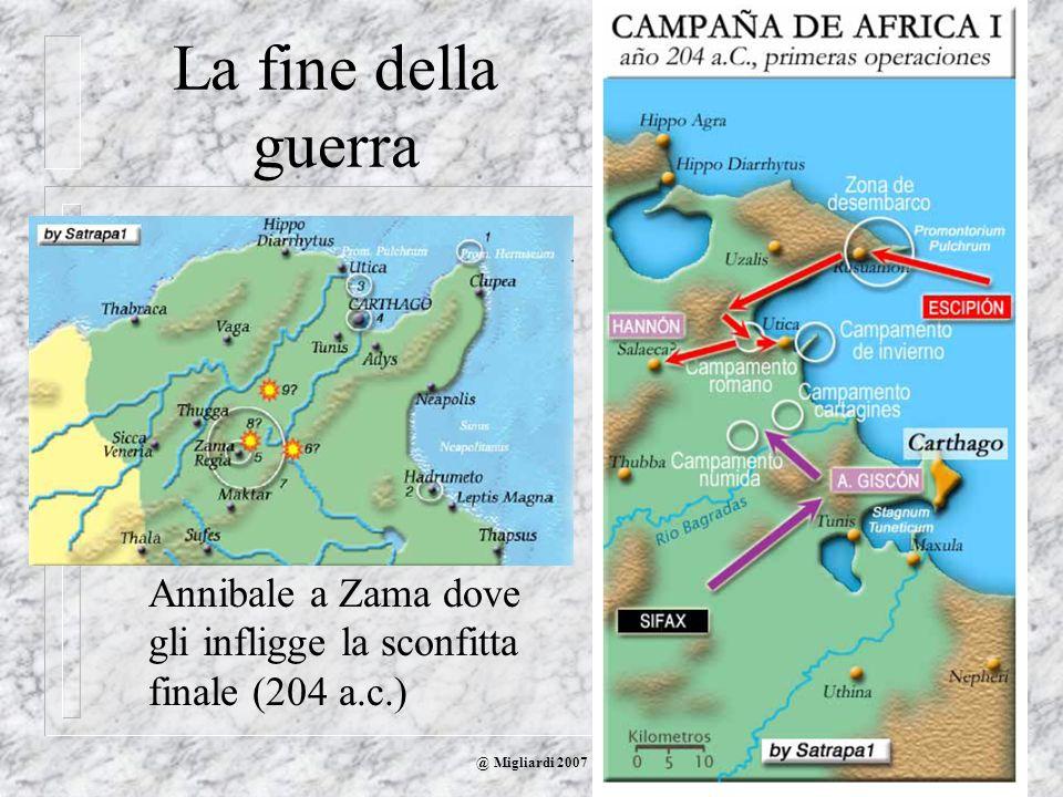 La fine della guerraScipione sbarca in Africa ed ha una prima vittoria a Utica.