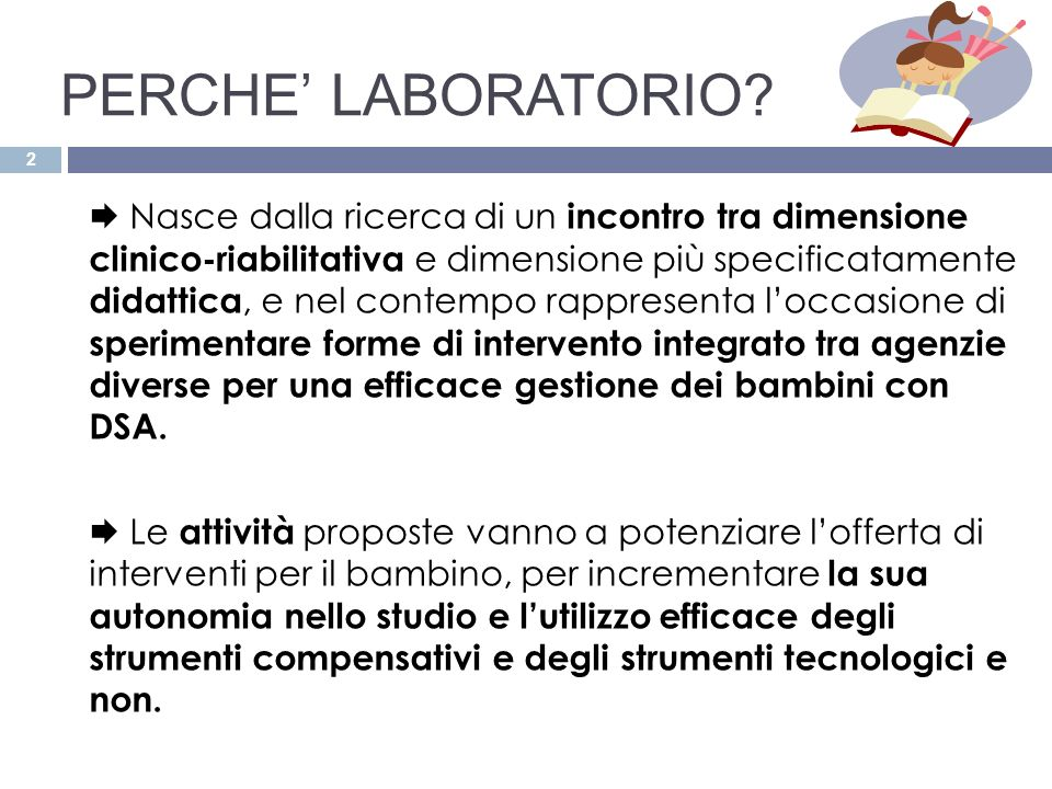 PERCHE' LABORATORIO