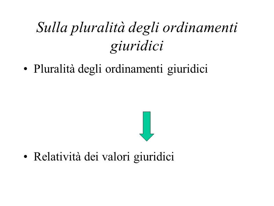 Sulla pluralità degli ordinamenti giuridici