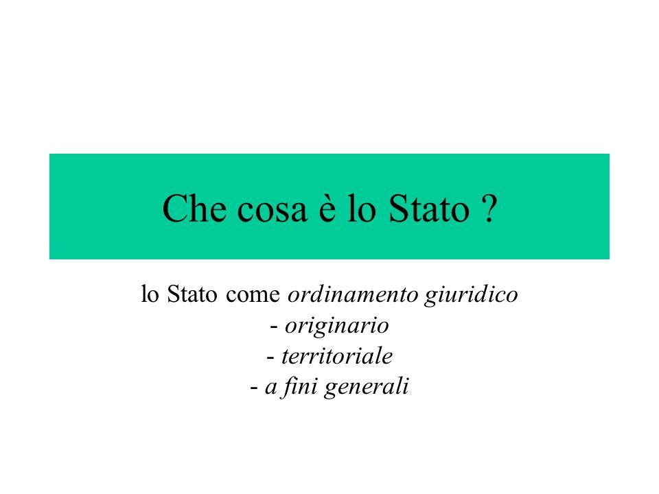 lo Stato come ordinamento giuridico