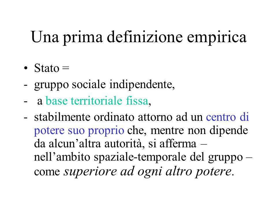 Una prima definizione empirica
