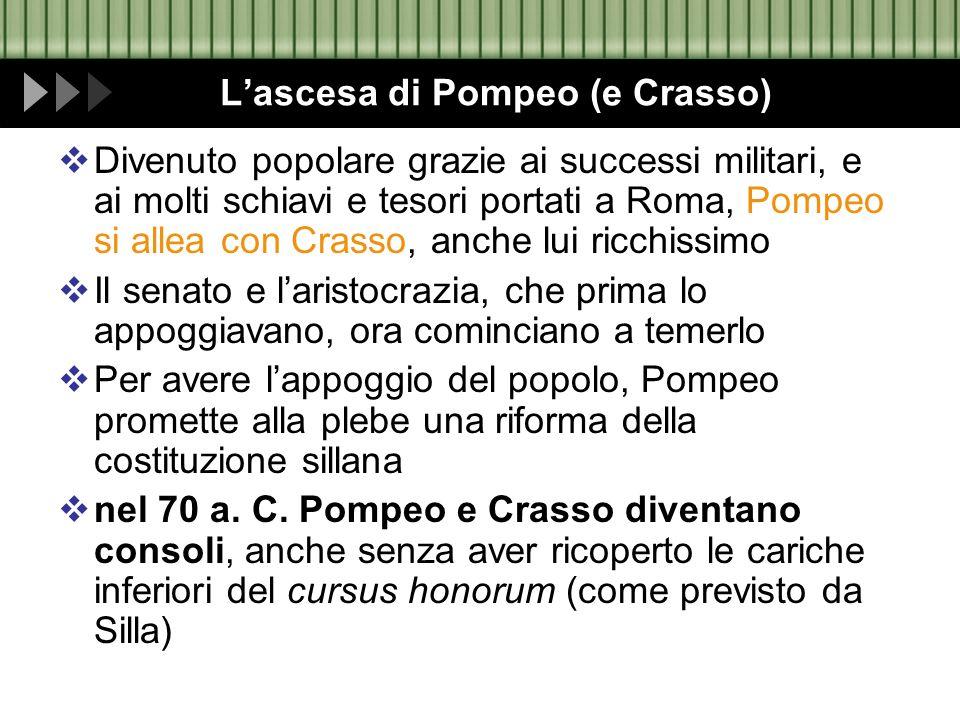 L'ascesa di Pompeo (e Crasso)