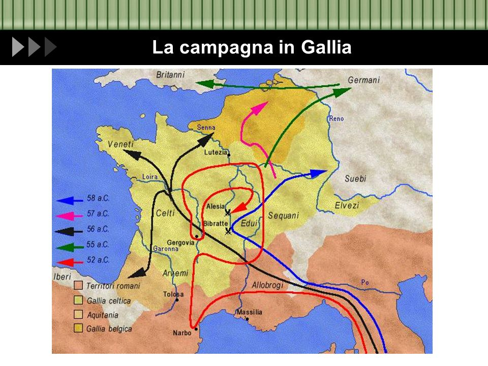 La campagna in Gallia