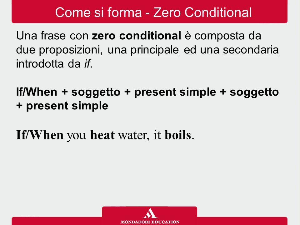 Come si forma - Zero Conditional