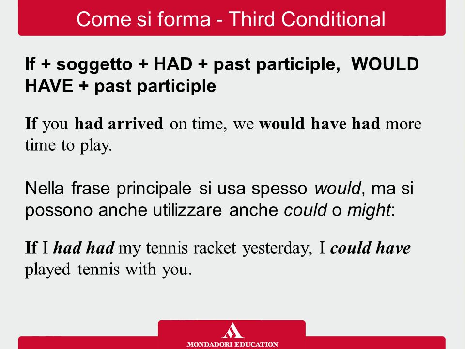 Come si forma - Third Conditional