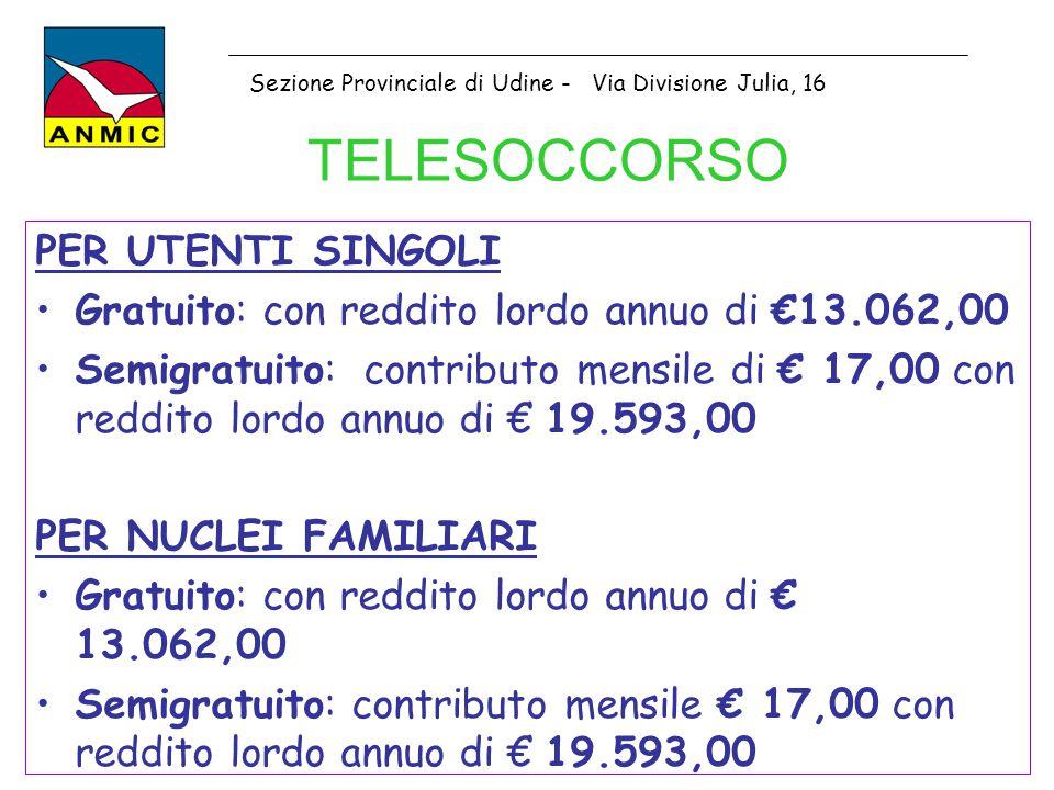 TELESOCCORSO PER UTENTI SINGOLI