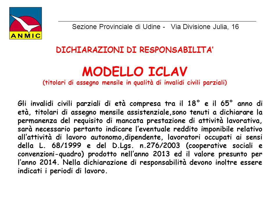 Sezione Provinciale di Udine - Via Divisione Julia, 16
