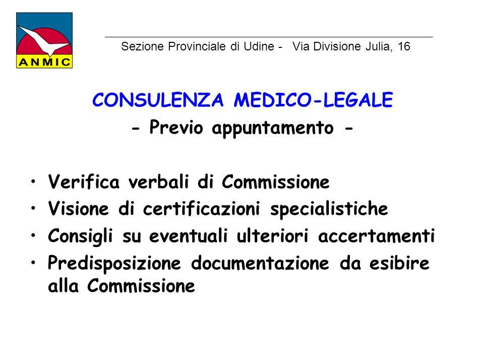 CONSULENZA MEDICO-LEGALE - Previo appuntamento -