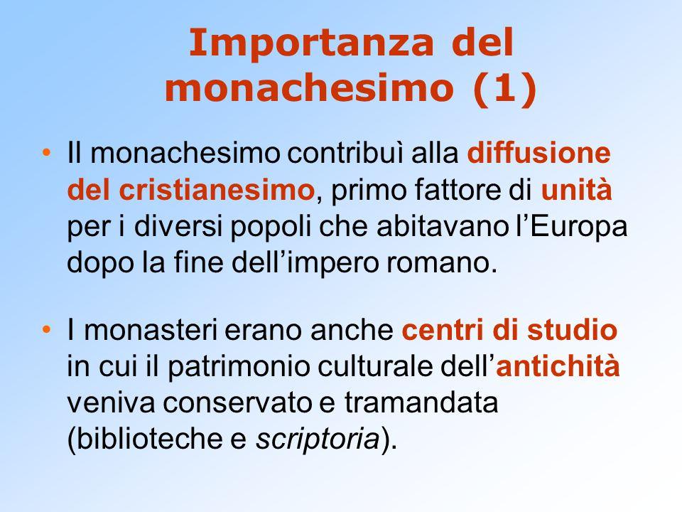 Importanza del monachesimo (1)