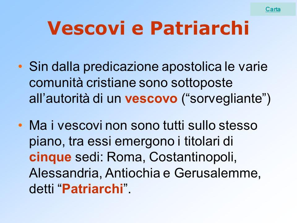 Carta Vescovi e Patriarchi.