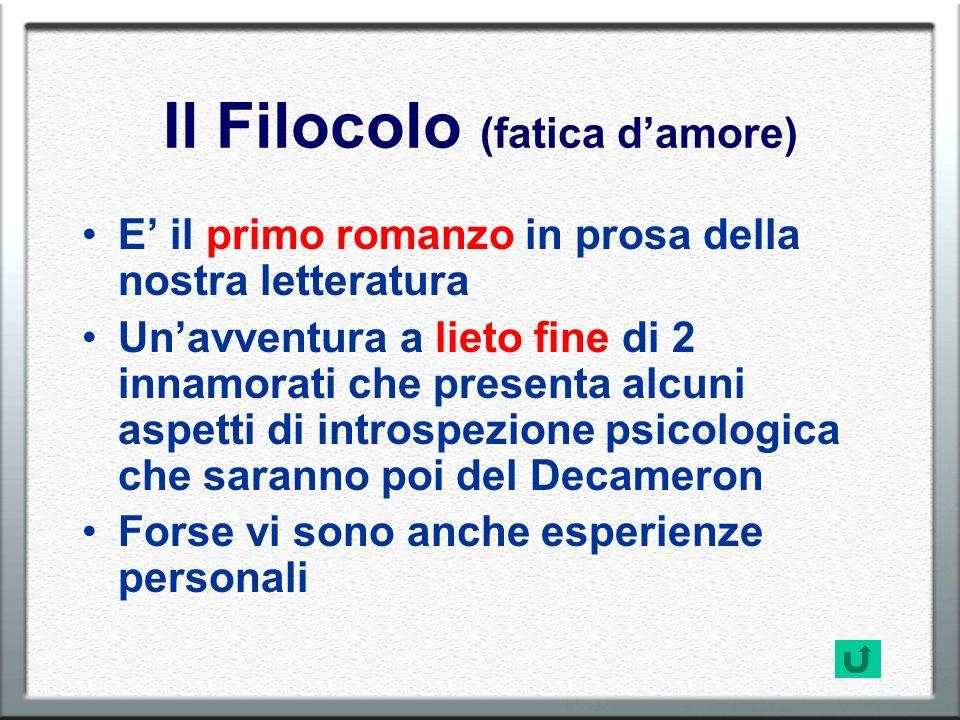 Il Filocolo (fatica d'amore)