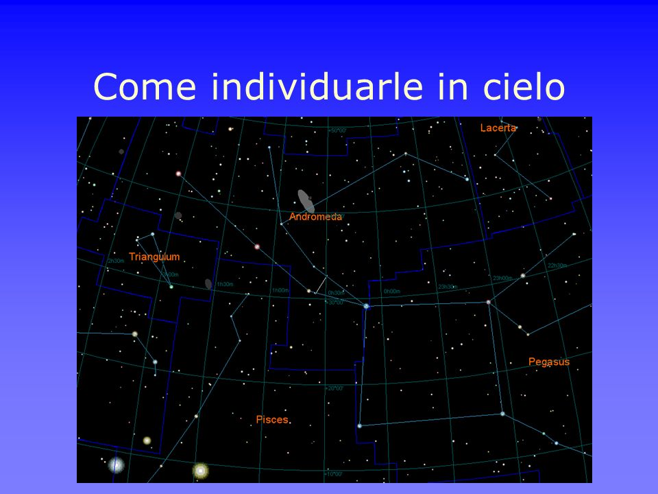 Come individuarle in cielo