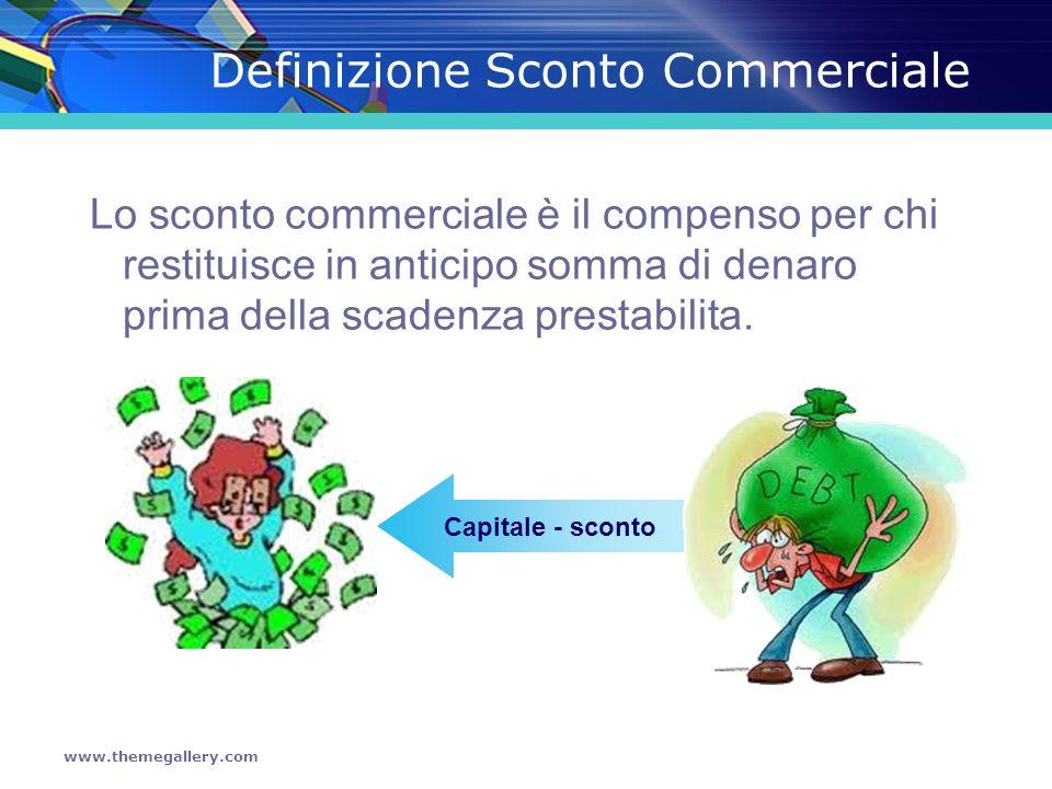 Definizione Sconto Commerciale