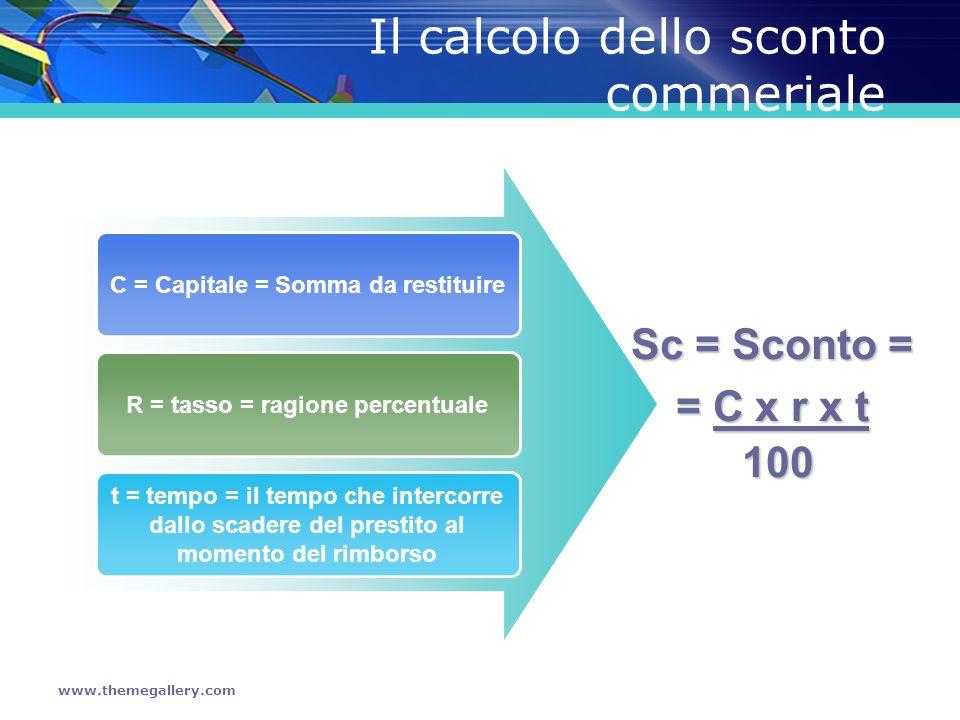 Il calcolo dello sconto commeriale
