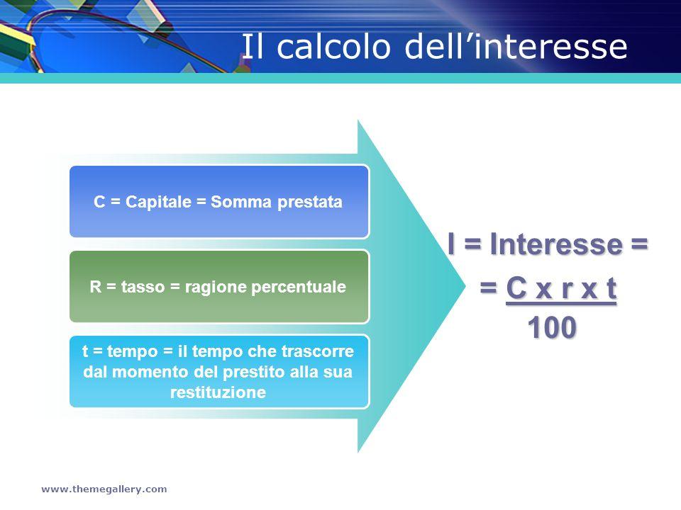 Il calcolo dell'interesse