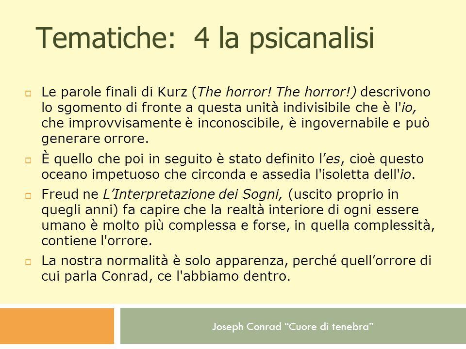 Tematiche: 4 la psicanalisi