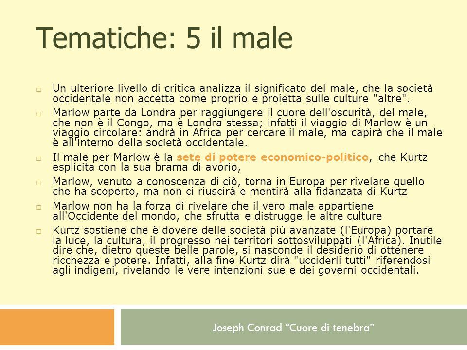 Tematiche: 5 il male