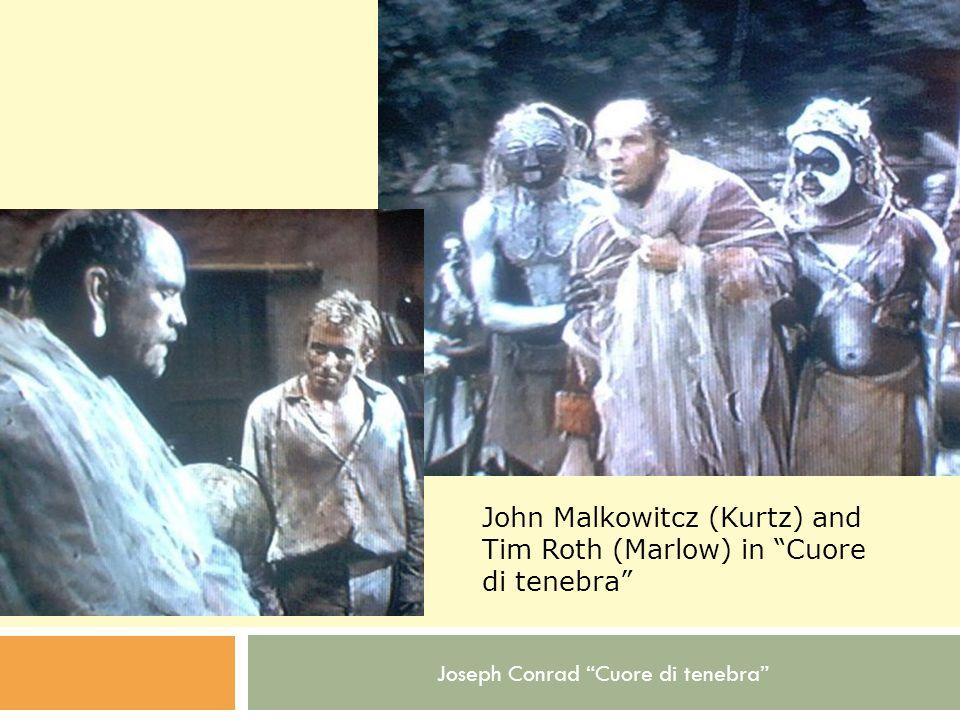 John Malkowitcz (Kurtz) and Tim Roth (Marlow) in Cuore di tenebra