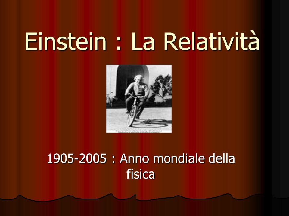 Einstein : La Relatività