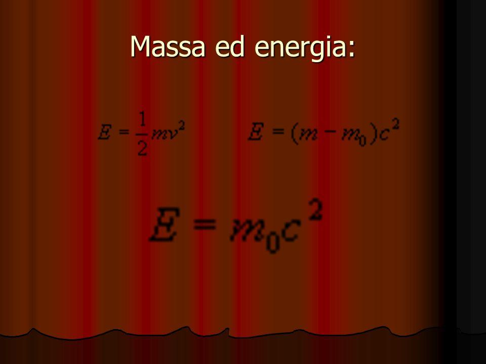 Massa ed energia: