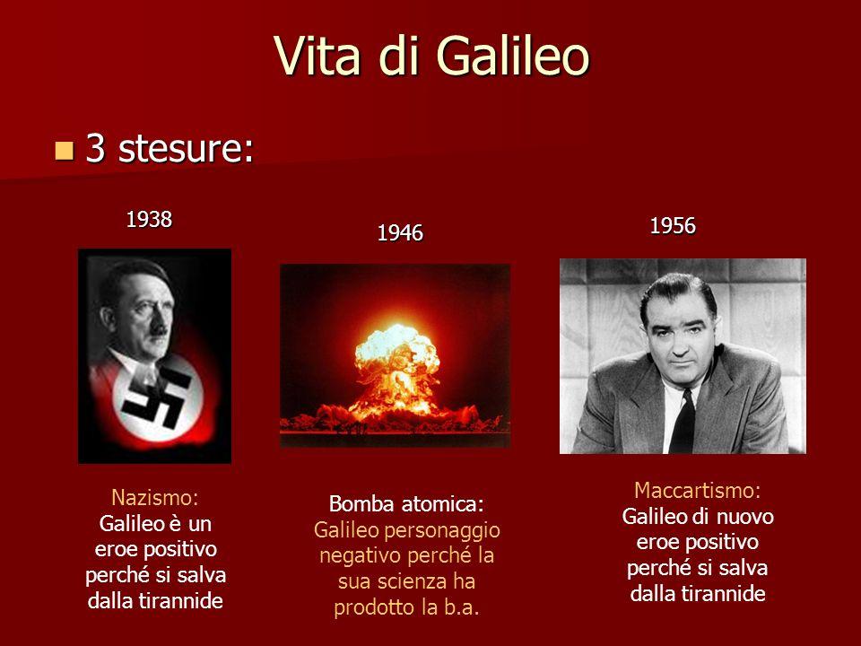 Nazismo: Galileo è un eroe positivo perché si salva dalla tirannide