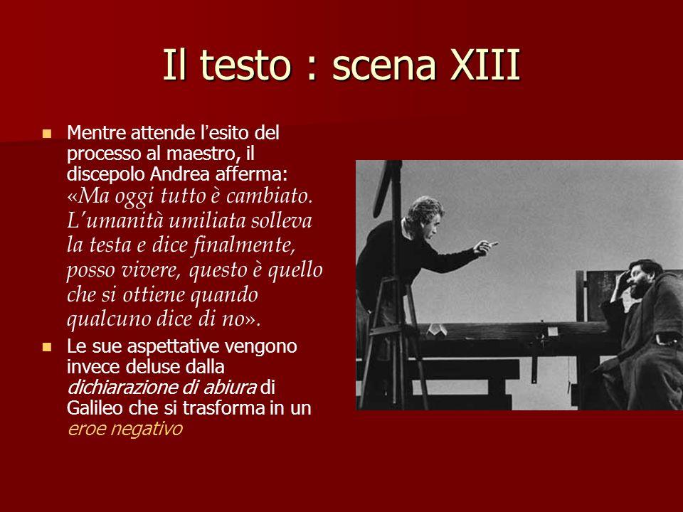 Il testo : scena XIII