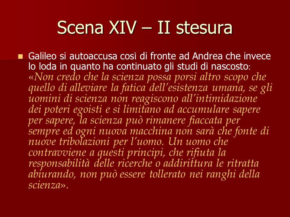 Scena XIV – II stesura