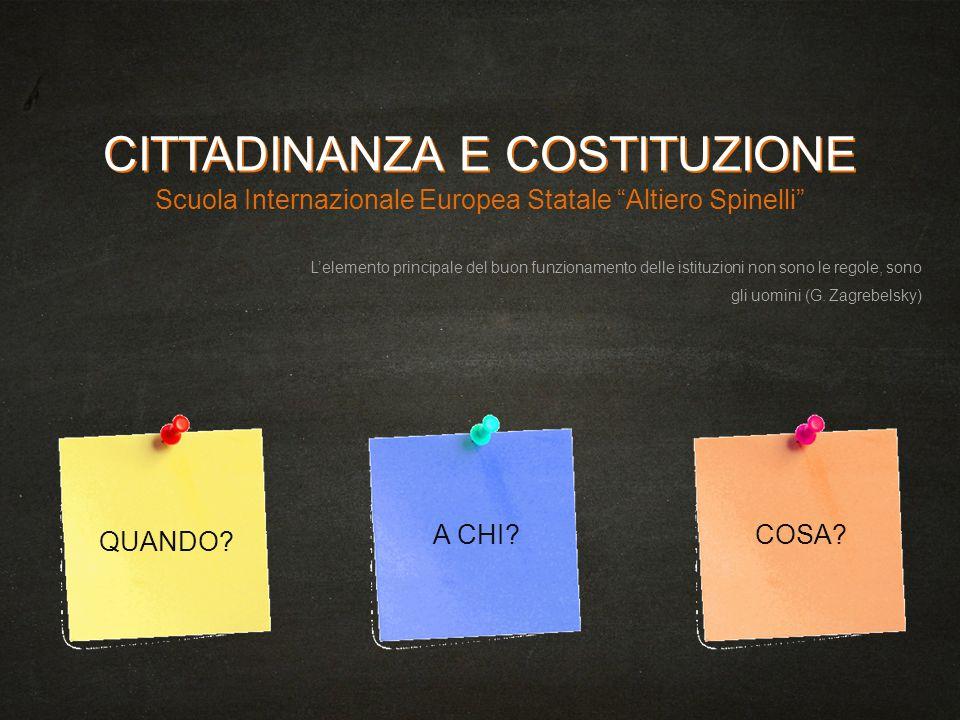 CITTADINANZA E COSTITUZIONE