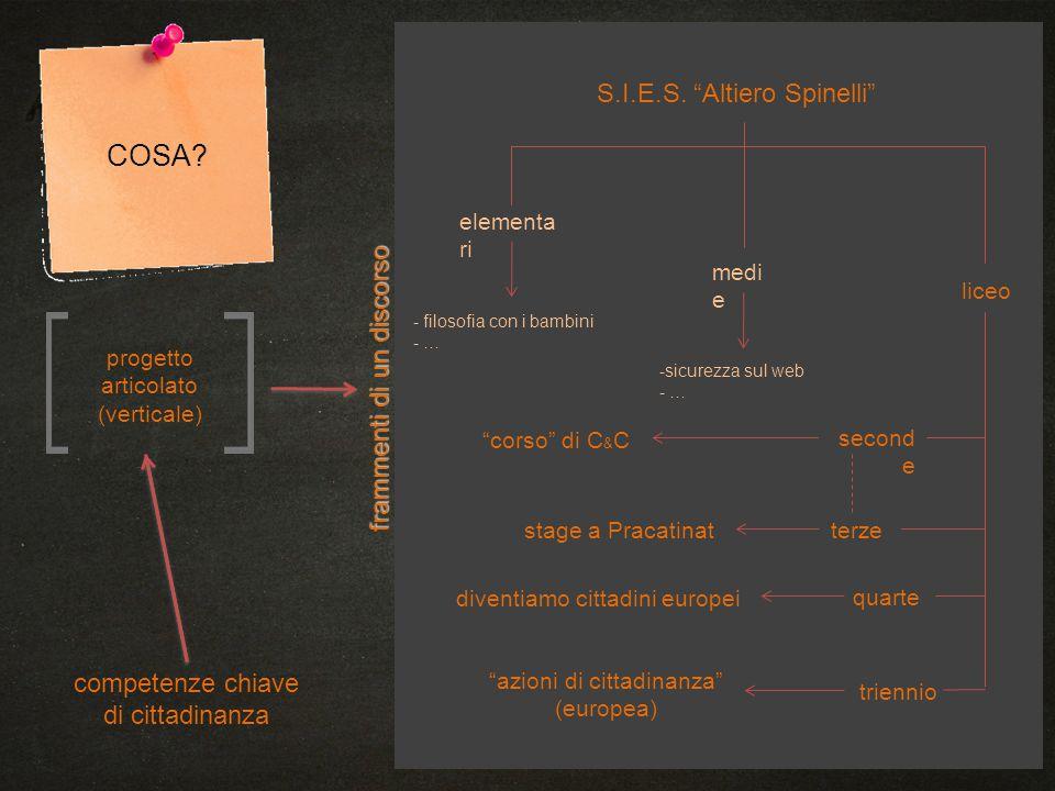 COSA S.I.E.S. Altiero Spinelli frammenti di un discorso
