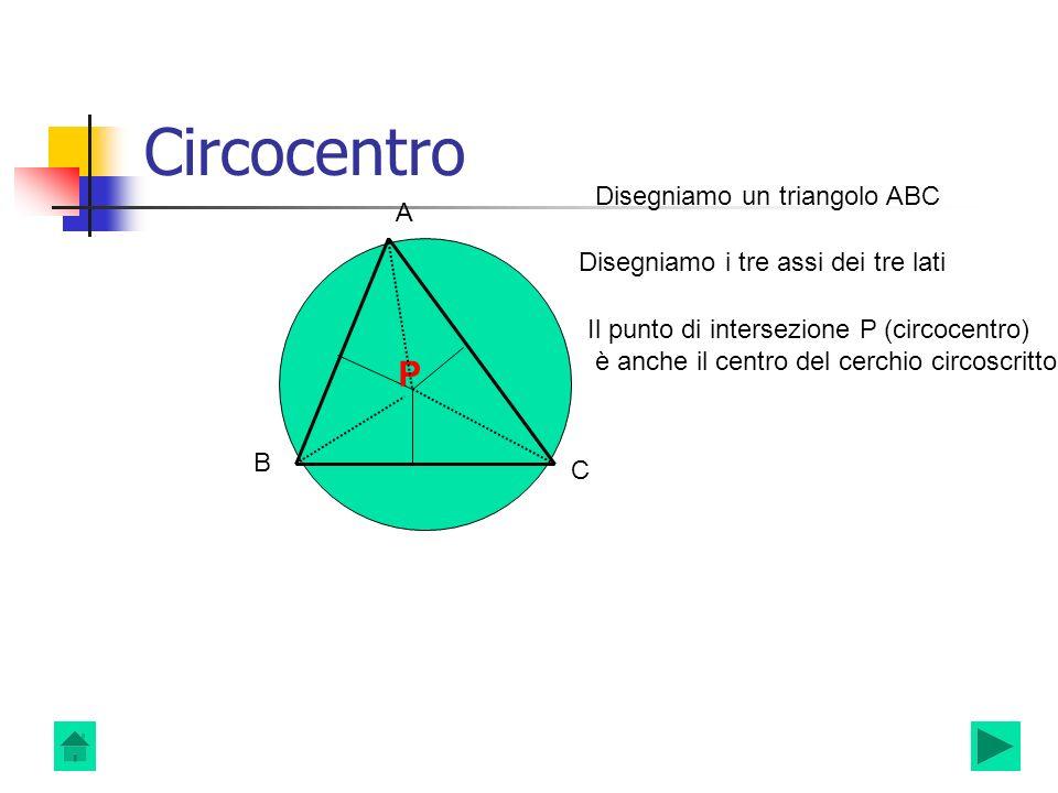 Circocentro P P Disegniamo un triangolo ABC A