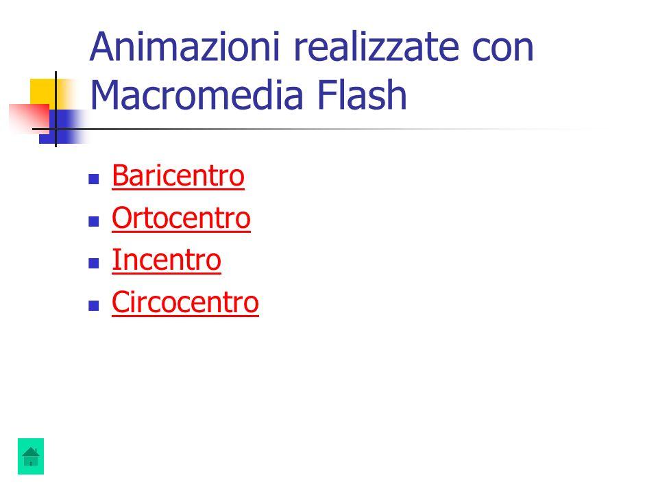 Animazioni realizzate con Macromedia Flash
