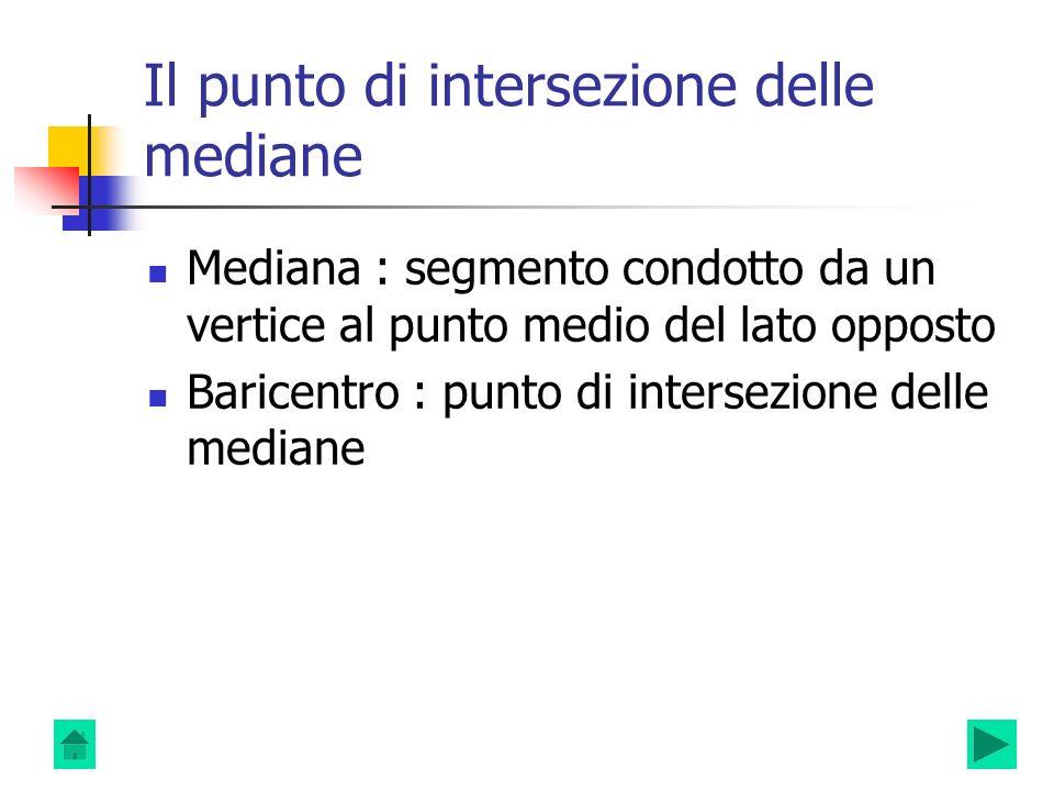 Il punto di intersezione delle mediane