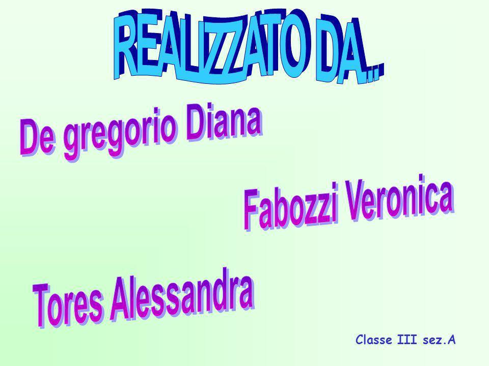 REALIZZATO DA... De gregorio Diana Fabozzi Veronica Tores Alessandra