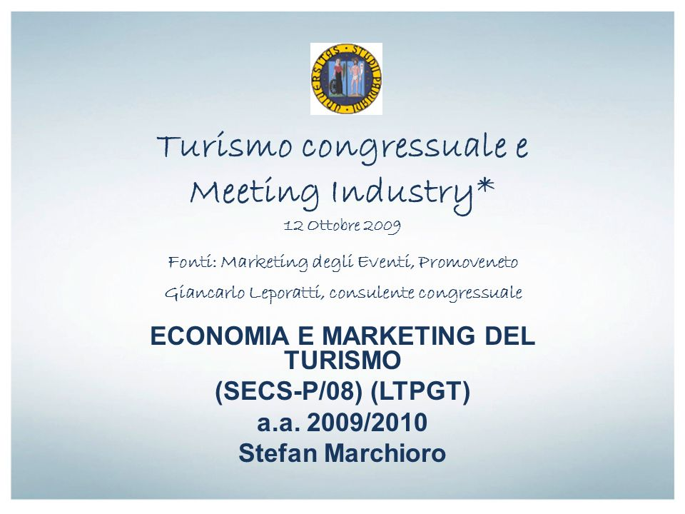 ECONOMIA E MARKETING DEL TURISMO
