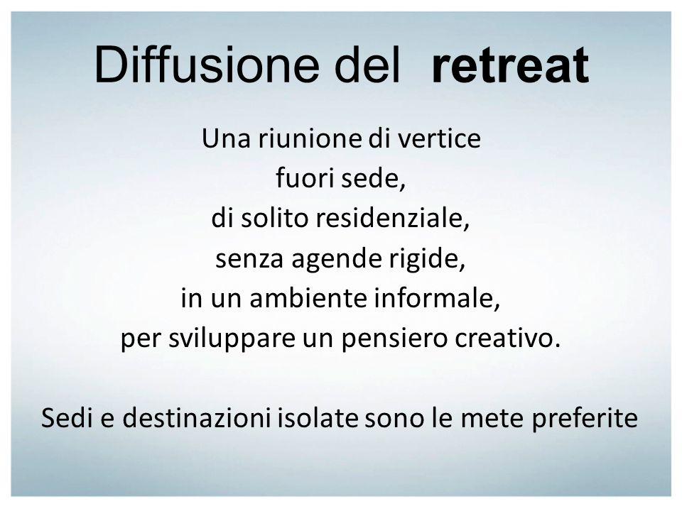 Diffusione del retreat