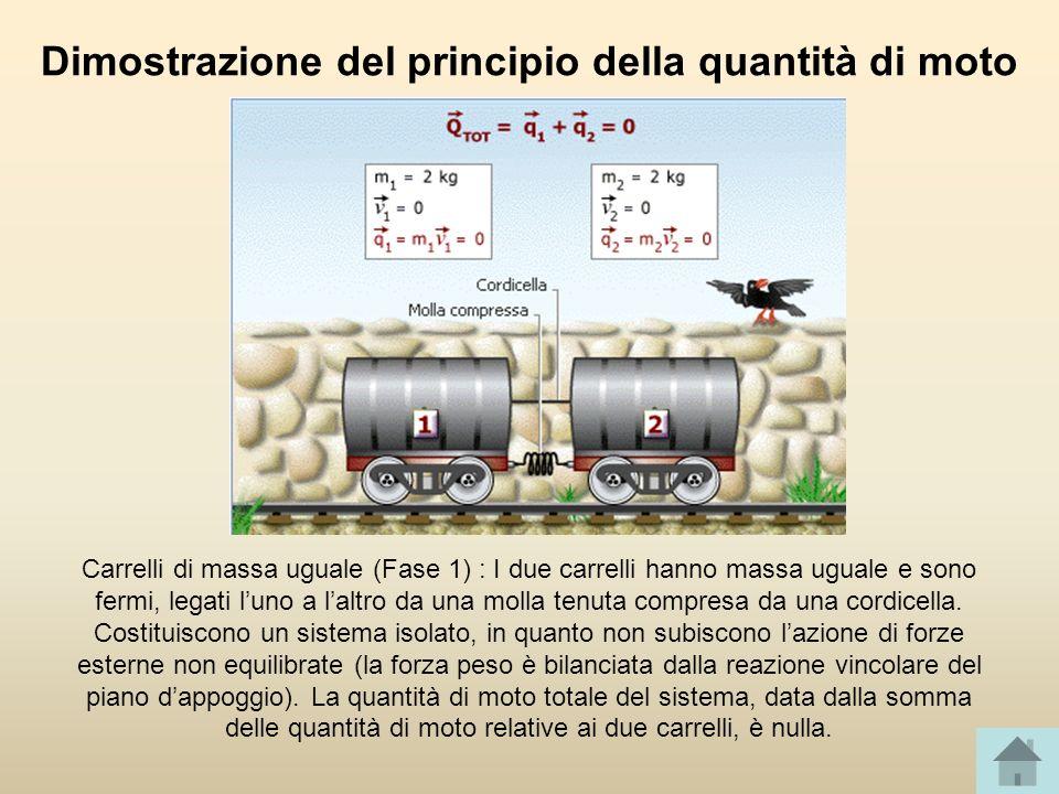 Dimostrazione del principio della quantità di moto
