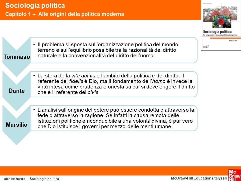 Sociologia politica Tommaso Dante Marsilio