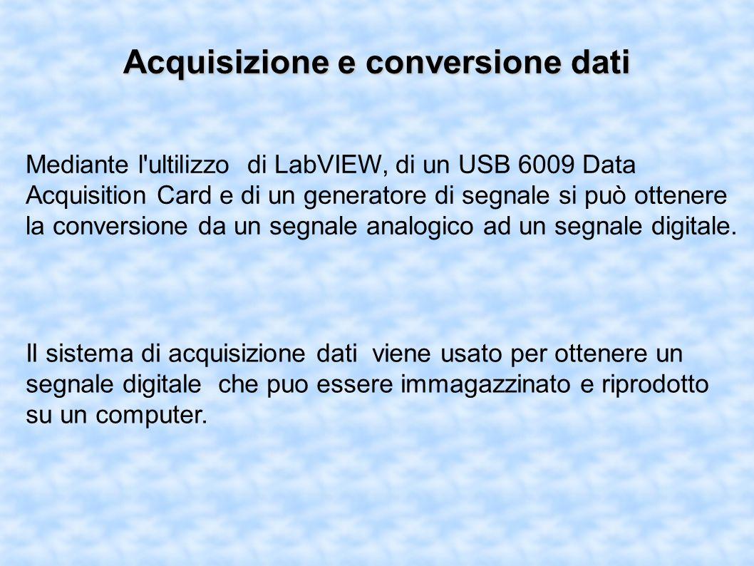 Acquisizione e conversione dati