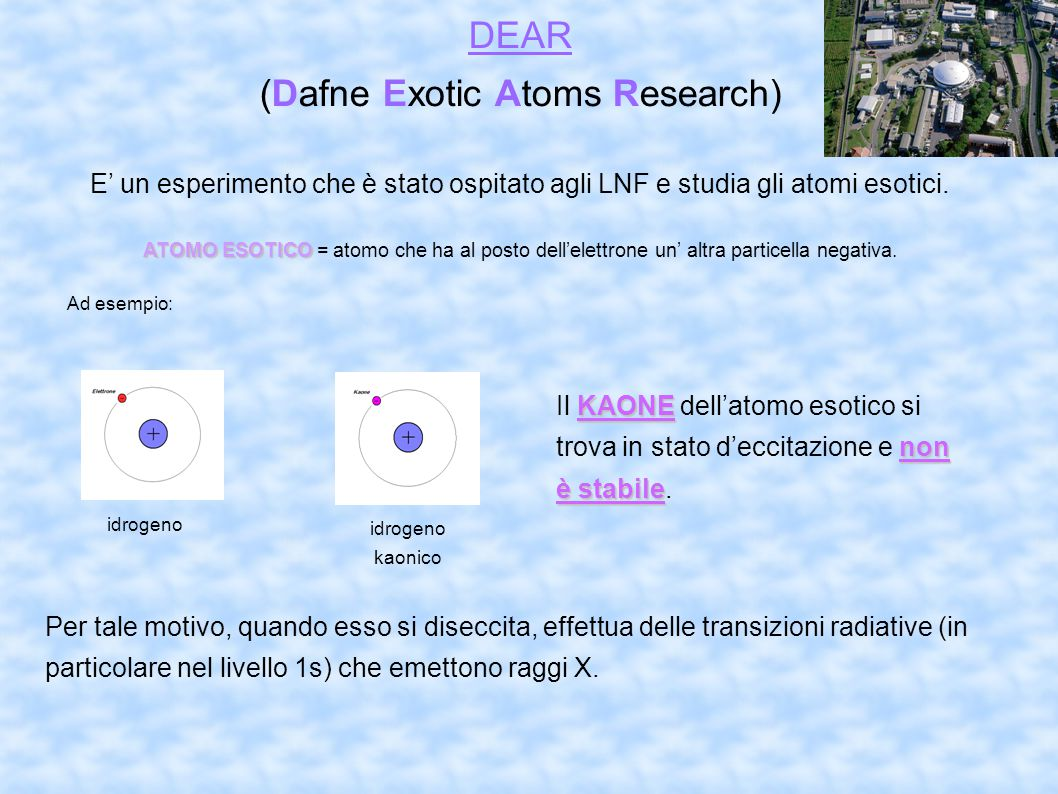 (Dafne Exotic Atoms Research)‏