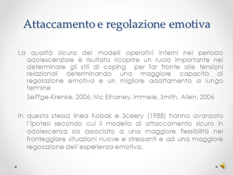 Attaccamento e regolazione emotiva