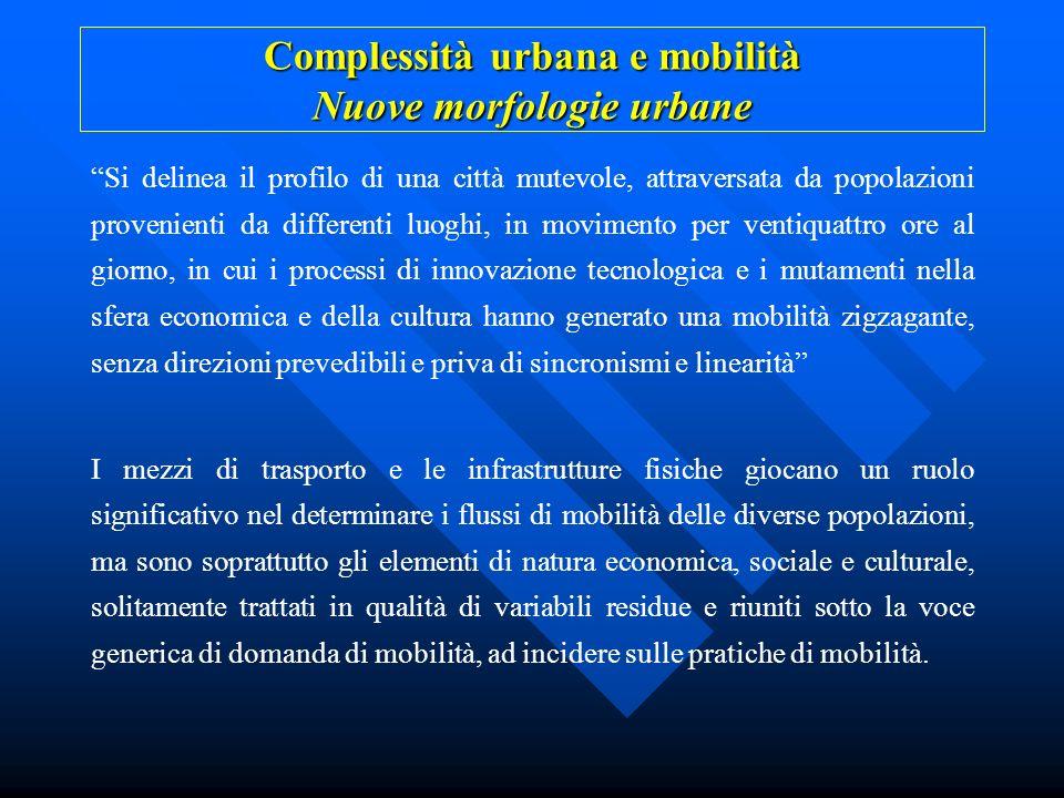 Complessità urbana e mobilità Nuove morfologie urbane
