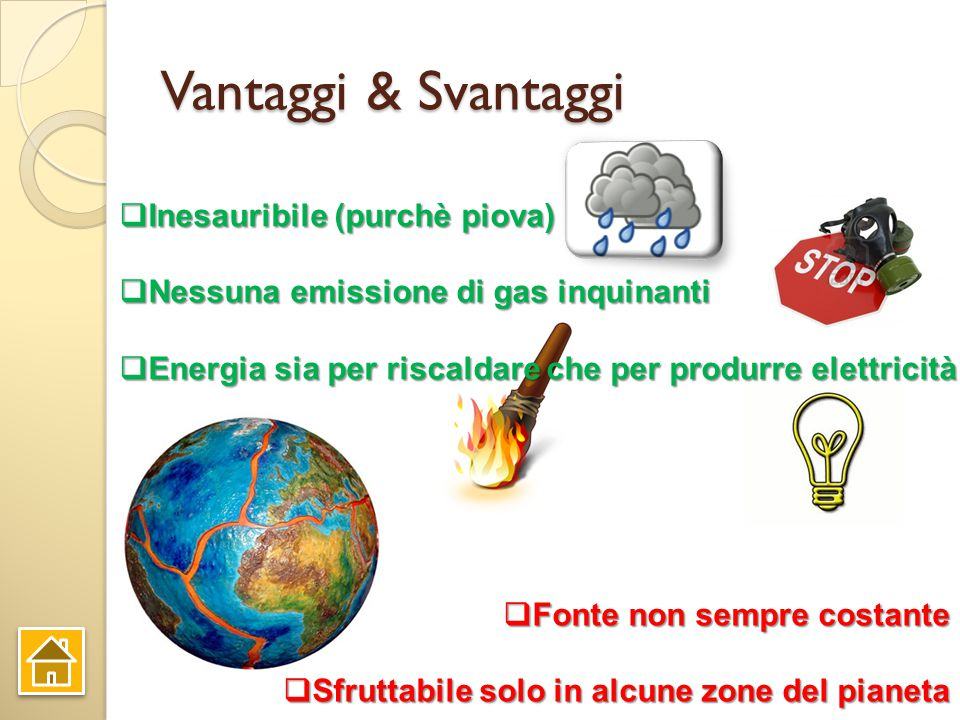 Vantaggi & Svantaggi Inesauribile (purchè piova)