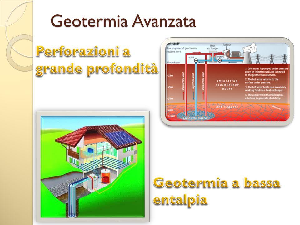 Geotermia Avanzata Perforazioni a grande profondità Geotermia a bassa