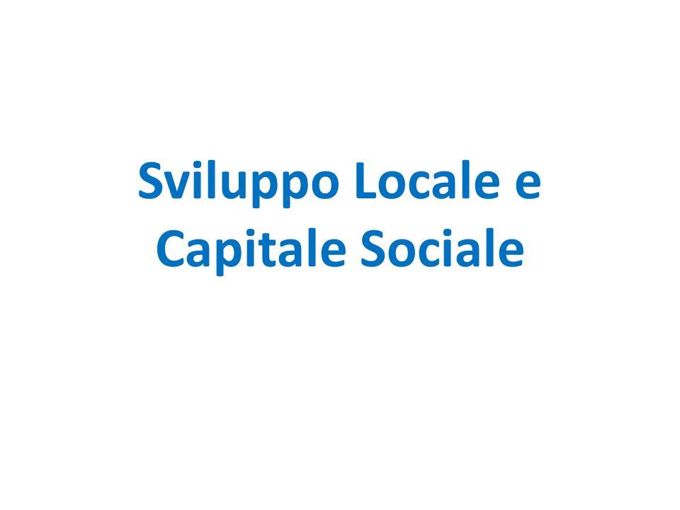 Sviluppo Locale e Capitale Sociale