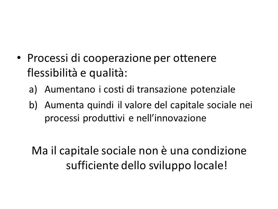 Processi di cooperazione per ottenere flessibilità e qualità: