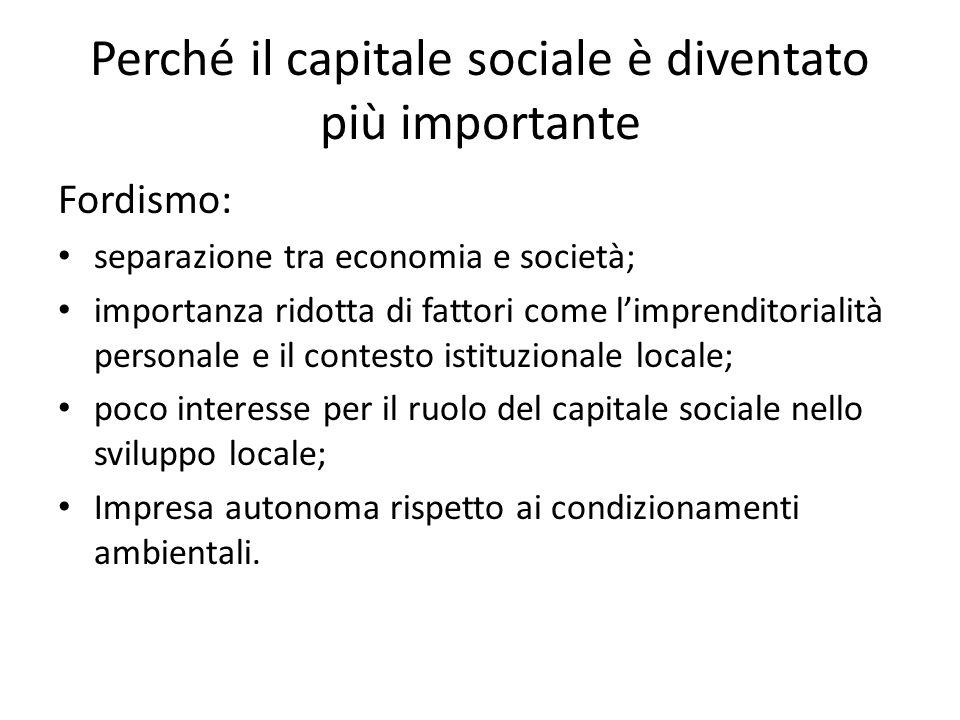 Perché il capitale sociale è diventato più importante
